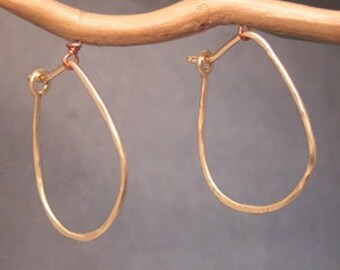 Hoop Earrings Small Teardrop