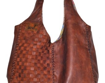 BELLA. Brown leather hobo bag / leather tote bag / oversized leather bag / leather shoulder bag. Available in different leather colors.