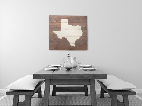 rustic texas wall art state sign home decor map art. Black Bedroom Furniture Sets. Home Design Ideas