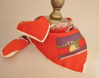 Niagara Falls 1950s souvenir scarf