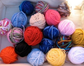 Yarn Sampler Destash 5 Ounces Acrylic Worsted Yarn Lot