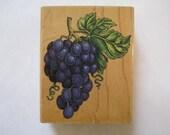 "Rubber Stampede Grape Rubber Stamp Stencil Size 3"" Length E607s"