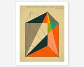Giclée Fine Art Print, Modern, Geometric, Abstract Art for the home decor, (DISSECTION Of The PRISM)