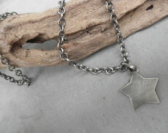 Star charm sterling silver chain necklace