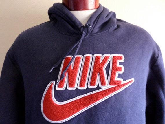 vintage 90's Nike red white felt applique swoosh logo
