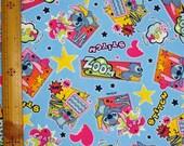 Disney Stitch and Angel Fabric / Japanese Fabric 100cm x 50cm