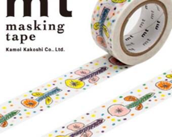 MT Washi Masking Deco Tape Mina Perhonen Flower White  Design
