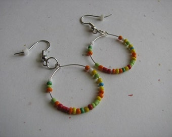 JEWELRY SALE- Rainbow Circle Earrings