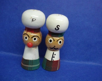 Hand Painted Vintage SALT  and PEPPER SHAKERS One of the Kind Perfect for a Collector
