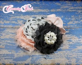 Persnickety Nob Hill Hair Bow, Headband, Cream, Black, Soft Pink, Hair Accessory, Baby Girl Hair Accessory, Clip, Blush, Ivory, Hair Piece