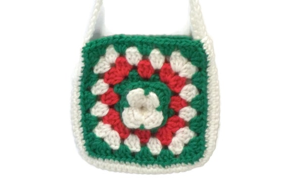 Crochet Purse For Child : Childs Purse Crochet Child Purse Red Green by lousknittingroom