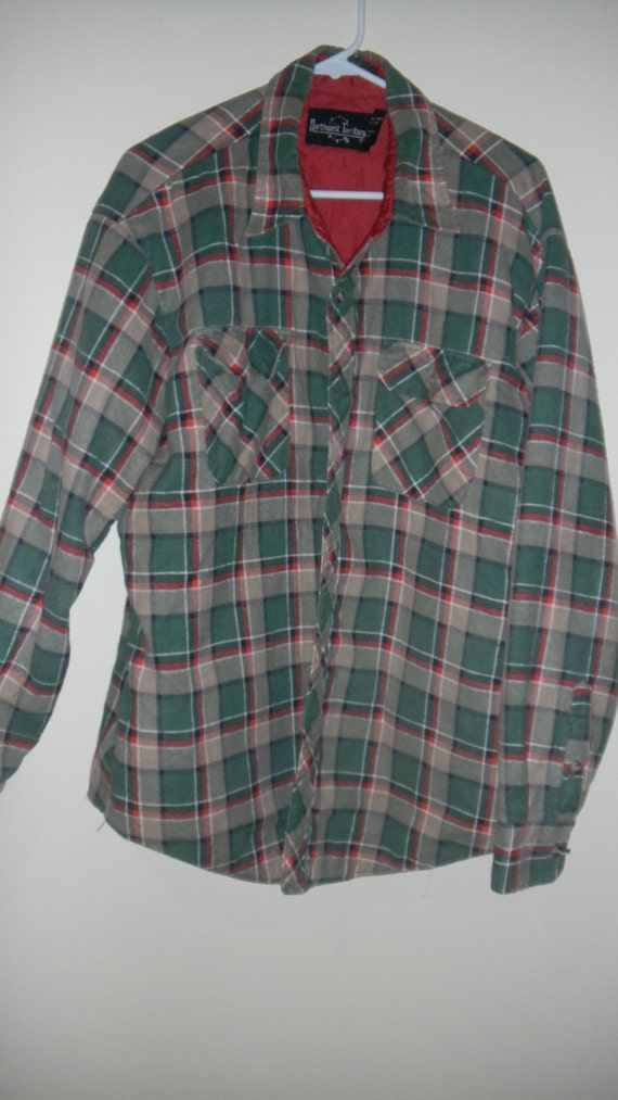 Northwest territory mens flannel quilted shirt jacket xl for Mens xl flannel shirts