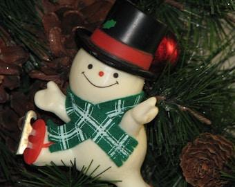 "Christmas Hallmark ""THE SKATING SNOWMAN"" Tree Trimmer Ornament"