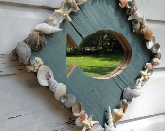 Seashell Fish Mirror/Beach House/Seashell Home Decor
