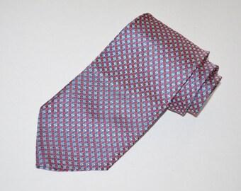 Vintage Necktie, Red, White, and Blue Tie, Red Necktie, Blue Necktie, Vintage Men's Neckwear, Vintage Tie, Men's Necktie, SALE!