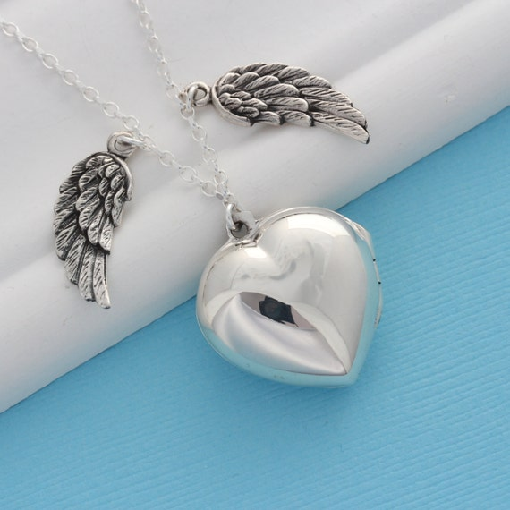 pin angel wing locket necklace 4 years ago in jewelry on pin
