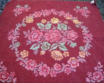 Belgium Fabric, Vintage Fabric Panel, Belgian, Cotton, Cottage Roses