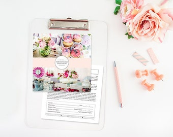 5x5 Print Release Template for Photographers - Photography Forms - Photoshop Templates - Electronic Form - Interactive Form - Digital Forms