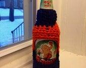 Orange and Blue Beer Bottle Sweater