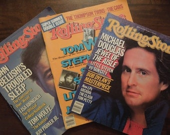 Vintage Rolling Stone Magazines Set of Three 1980s