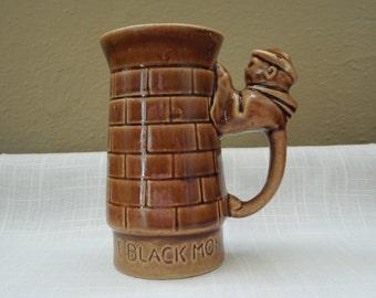 Unusual Vintage The Black Monk Stein Coffee Cup Tea Cup