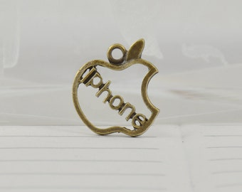 10Beads Charm Superb apple Iphone Pendant Bronze Plated Victorian Pendants Beads ----- 20mm----- 10Pieces 2E