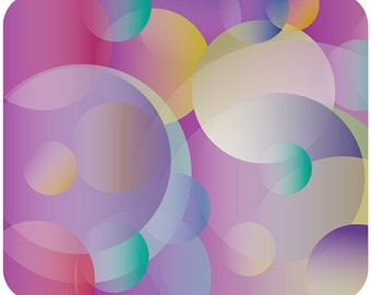 Crazy Colorful Bubbles Abstract Design Mouse Pad