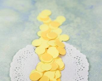 200 paper confetti - yellow
