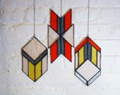 Stained Glass Elements: Chevron Arrows (set of 3)