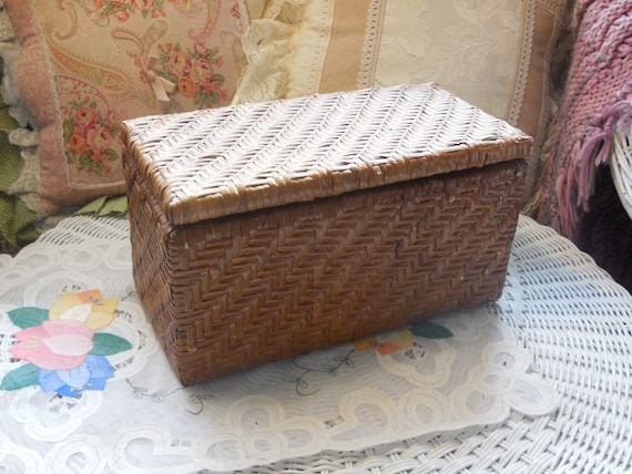 Rattan Wicker Divided Basket Cute Sale By Daysgonebytreasures