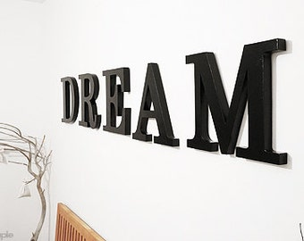 Dream, Wooden Letters, Bedroom decor, Home decor, Wall decor