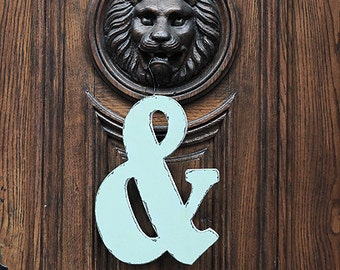 """Shabby chic ampersand sign 12 """",  Wooden symbol, Photo props Custom sign"""
