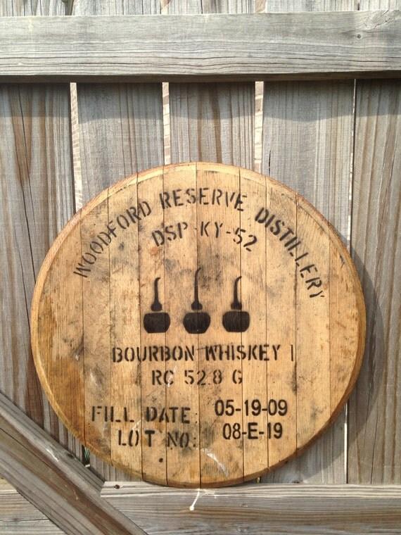 Woodford Reserve Bourbon Whiskey Barrel Head By Kybarrel