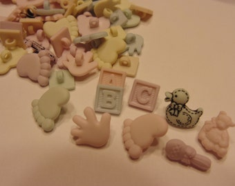 20 piece assorted tiny baby button mix, 8-13 mm (B5)