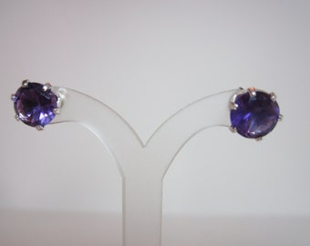 Untreated African Amethyst Earrings
