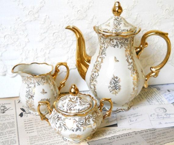 tea set vintage roses wallpaper - photo #34