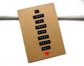 I LOVE YOU Card - Card For Boyfriend - Card For Girlfriend - Valentine
