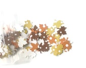 Autumn Leaf Confetti: 201 Polka Dot Maple Leaves in Yellow, Orange, & Brown