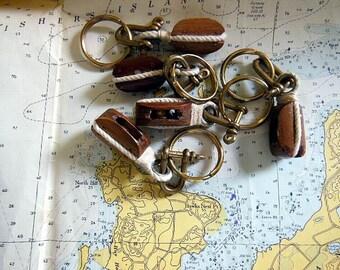 Vintage Nautical Key Chain, Wedding Favors