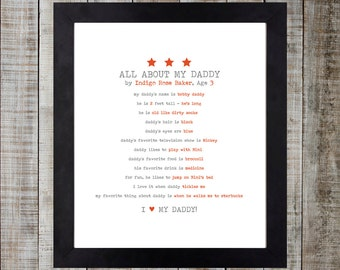 Child Questionnaire Design - All About My Daddy