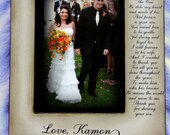 Wedding  Distressed Vintage Picture 5x7 Mother of the Groom Future Mother in Law Photo Frame - Personalized Gift - Keepsake