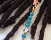 Turquoise Dreadlock Braid Twist Hair Bead Dread Locs Jewelry Hair Accessories