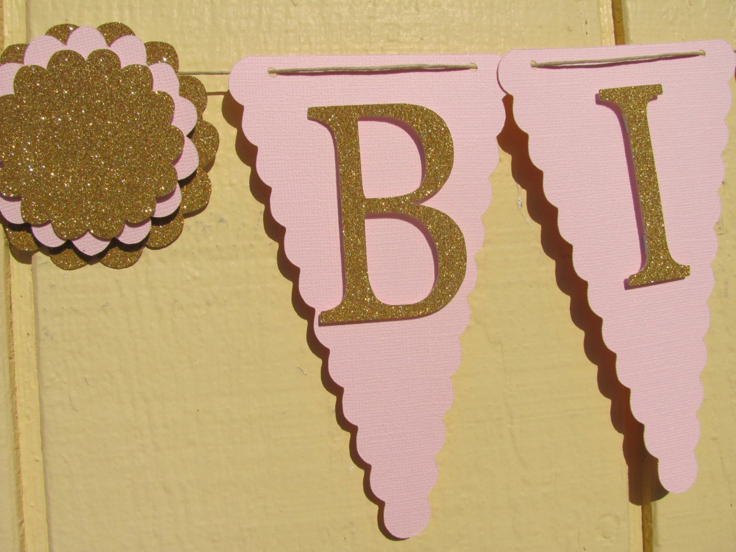Gold Birthday Decorations Pink And Gold Birthday Party Banner Glitter Gold Happy