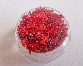 """Matte Red Bows Ribbons 1/2 Ounce 1/8"""" Solvent Resistant Glitter Frankening Nail Polish Supply Hairbow Shaped Glitter"""