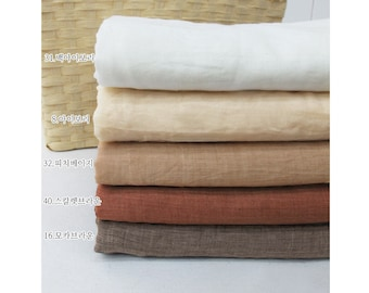 """Soft Cotton Gauze - White Ivory, Ivory, Peach Beige, Scarlet Brown or Mocha Brown  - 59"""" Wide - By the Yard 59897"""