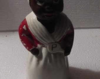 Vintage, Black Americana powder sugar shaker, in good condition a wonderful piece of the past