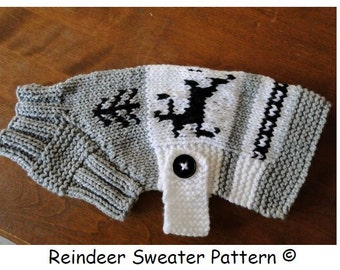 Dog Sweater Pattern.....Reindeer design