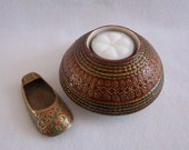 Exotic Raised Relief Stitched Candle Holder