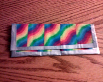 Tie dye clutch duct tape wallet