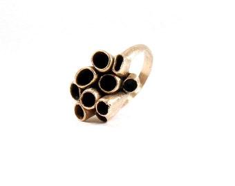 Bronze Organic Ring / Bronze Rustic Ring / Statement Bronze Ring